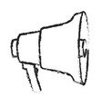 monochrome blurred silhouette of megaphone icon vector image vector image