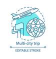 multi-city trip concept icon flights vector image