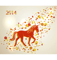 multicolor chinese new year horse 2014 vector image vector image