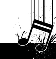 music note fall down vector image