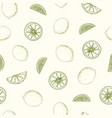 natural seamless pattern with lemons whole and vector image vector image