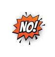 no comic text bubble isolated color icon vector image vector image