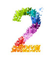 number 2 from butterfly vector image vector image