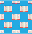 open book seamless pattern vector image vector image