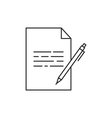 Outline document icon vector image vector image