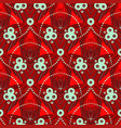 pattern with geometric motif in art deco style vector image