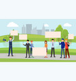 pollution prevention meeting flat vector image vector image