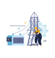 power line tower composition vector image