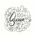 Queen Typography Design Lettering print for t vector image vector image