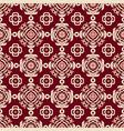 red damask seamless tiled motif pattern vector image vector image