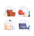 scandinavian interior minimalist room furniture vector image vector image