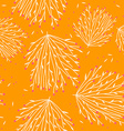 Seamless Orange Floral Pattern vector image vector image