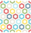 Seamless pattern of coloured hexagons vector image vector image