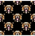 Seamless pattern with tiger head vector image vector image