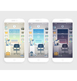 Set of wallpapers for mobile phone vector image vector image