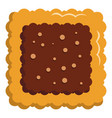 square biscuit icon flat style vector image vector image