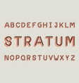 stratum regular font alphabet vector image vector image