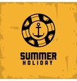 Summer design float and anchor icon vector image vector image