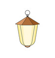 suspended street lamp easy to edit and change vector image vector image