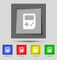 Tetris icon sign on the original five colored vector image vector image