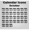 The calendar icon October symbol Flat vector image