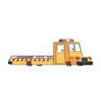 tow truck isolated wrecker for evacuates auto vector image vector image