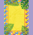 vertical banner with tropical leaves vector image vector image