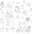 Wedding seamless background vector image vector image