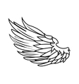 wing freedom symbol icon graphic vector image