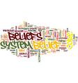 your core belief text background word cloud vector image vector image