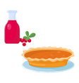 berry syrup bottle colorful cartoon icons for vector image