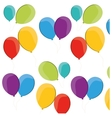 colored balloons flying fun party vector image
