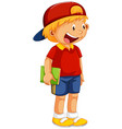 a cute boy character vector image vector image