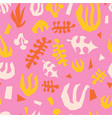 abstract plants summer collage seamless vector image vector image