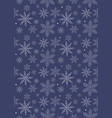 abstract white snowflakes pattern vector image