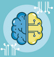 artificial brain concept vector image vector image