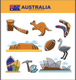 australia travel destination poster with country vector image vector image