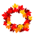 autumnal falling leaves frame for seasonal design vector image