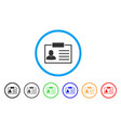 badge rounded icon vector image vector image