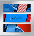 banner flag of american vector image vector image