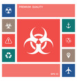 biological hazard sign elements for your design vector image