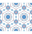 Blue and Red Floral Pattern with Cornflower vector image vector image