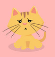 cartoon cat suspicious pink background imag vector image vector image