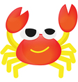 Cartoon orange Crab funny vector image