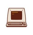 classic computer historic computer vector image vector image