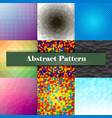 collection of seamless ornametal patterns vector image vector image