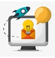 computer device email idea startup vector image