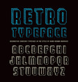 decorative sanserif bulk font vector image vector image