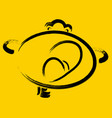 funny yawning smiley on a yellow background eps10 vector image