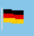 germany flag with copyspace vector image vector image